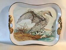10 x 12 H.P. Tray,spectacular Goose Family,3rd prize winner,1987 TX State Fair