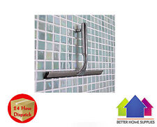 Chrome Shower Glass Window Cleaner Wiper Squeegee with Fixing Bracket