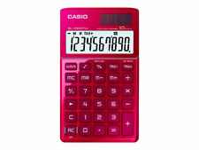 Casio Sl-1000tw-rd Solar-powered Desk Calculator With Glossy Metal Finish / 10 D