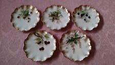 Jean Pouyat Limoges Set of Five Cabinet Plates - Berries and Fruit