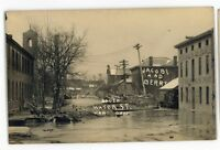RPPC South Water St Flood of 1913 HAMILTON OH Vintage Ohio Real Photo Postcard