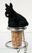 Scottish Terrier Scotty Dog Hand Painted Resin Figurine Wine Bottle Stopper