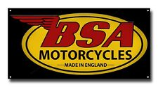 "BSA METAL SIGN.16"" X 8"".OFFICIALLY LICENSED B.S.A PRODUCT. © &™ BSA. YEL & BLACK"