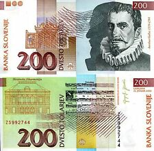 SLOVENIA 200 Tolar Banknote World Money Currency BILL Europe note p15d 2004 Bill