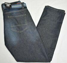 Ecko Unltd Jeans Men's 30 30x30 741 Athletic Fit Belted Denim Dark Indigo P640
