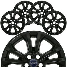 "4 Black 2017 18 19 Ford Escape SE 17"" Wheel Skins Hub Caps Alloy Rim Full Covers"