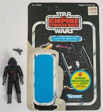 Vintage Kenner Star Wars Tie Pilot figure with ESB Revenge backer card Complete