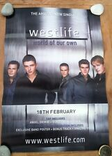 WESTLIFE World Of Our Own Unused  Shop Display POSTER 19X28 inches