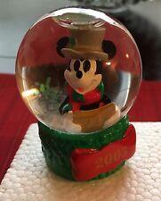 Christmas 2005 Disney Mickey Mouse Mini Snowglobe Snow Globe
