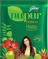 120g Godrej Nupur Henna Powder with 9 Herbs Hair Color 100% Natural+FREE GIFT