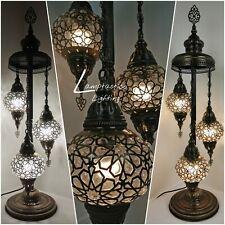 Earthed Turkish Moroccan Laser Pressed Floor Lamp, Floor Light, Statement Lamp