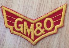 "Vtg GM&O WINGS Railroad Patch GULF MOBILE OHIO Railway GMO Alton Route 3.5"" Logo"