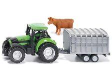 SIKU Tractor with Stock Trailer Deutz Die-cast Toy NEW