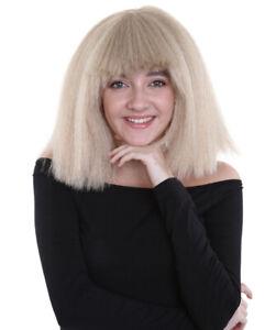 Australian Singer Wig   Gray Blonde Large Celebrity Wig HW-1147