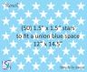"""Joanie Stencil (50) 1.5"""" Stars Blue Size 12"""" x 14.5"""" American Flag Sign U paint"""