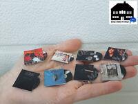 8 discos vinilo miniatura(record vinyl miniature),Top ventas mundial.Escala 1:12