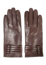 """Ashley Stewart  Multi Buckle Leather Gloves brown """"Hot Coco"""""""