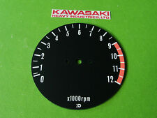 1976-80 Kawasaki TACHOMETER FACE PLATE gauge instrument  kz1000 ltd kz900 kz650