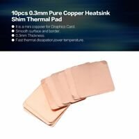 Specification: 0.3mm Tool Parts 10pcs Pure Copper Brass Heatsink Shim Thermal Pad Barrier for Laptop Graphics Card 15x15mm Fast Thermal Dissipation