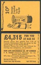 SGDN59 10p British Pillar Box Stitched Booklet April 1973