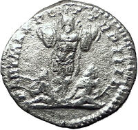 CARACALLA 201AD Silver Authentic Ancient Roman Coin Trophy Tropaion Rare  i59502