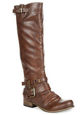 Carlos by Carlos Santana Hanna 2 Cognac Wide Calf Tall Boots Size 7.5 M