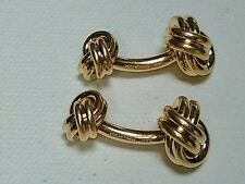 Vintage 14k  Gold cufflinks. Tiffany & Co. Double Love-knots. Weight is 21 grams