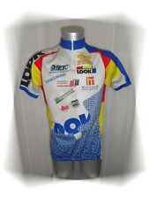 C - Maillot Cycliste Blanc Bleu Jaune Rouge Look La Montalbanaise Taille XXL