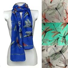 Dragonfly Viscose Large Scarf Shawl Sarong Wrap Beach Cover-up