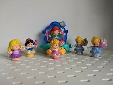 Fisher Price Little People Lot Set of 6 Disney Princess Figures Cinderella Ariel