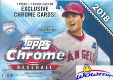 2018 Topps Chrome Baseball EXCLUSIVE Factory Sealed Blaster Box-SEPIA REFRACTORS