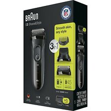 *NEW* Braun S3 Shave & Style Series 3 3000BT 3-in-1 Shaver +5 Combs (Sealed)