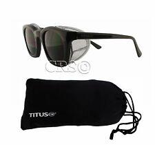 Biker Motorcycle Riding Goggles Sunglasses Metal Side Shield Vtg Retro Style 60s