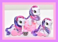 ❤️My Little Pony G3.5 Baby Sweetie Belle Lot 3 Different Ponies Sparkly Winter❤️