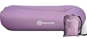 Nevlers Inflatable Lounger with Side Pockets and Matching Travel Bag - Lavender
