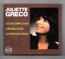 RARE COFFRET 3 CD JULIETTE GRECO / DISQUES MEYS / 43 TITRES