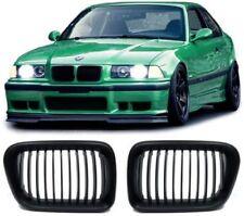 FRONT GRILLS BLACK-MATT FOR BMW E36 96-99 SERIES 3 SPORT-LOOK SPOILER NEW