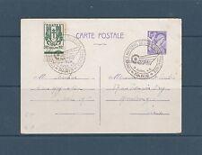 carte entier type Iris 1f20 violet  oblitéré congrès de l' aviation  Paris 1945