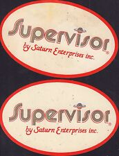 "Lot of 2 Supervisor Saturn Enterprises Inc. 4.5"" Stickers 052416DBE"