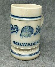 Schlitz Stoneware Pre Prohibition Advertising Beer Mug Milwaukee Wis German Text