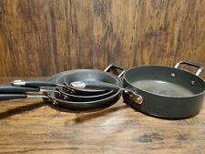 4pc Frying Pan Cook Set 12in 10in 8½in Frying Pans & 5qt Pan Circulon Commercial