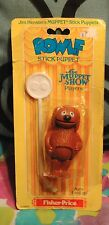 Vintage Muppet Show ROWLF DOG Stick Puppet Fisher Price 1979 MOC SEALED Henson