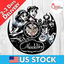 Aladdin Jasmine Disney Vinyl Record Wall Clock Kids Birthday Best Gifts Decor !