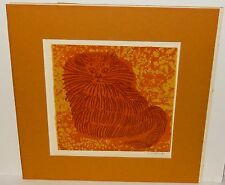 DAVID WEIDMAN CAT HAND SIGNED IN PENCIL VINTAGE LITHOGRAPH #2