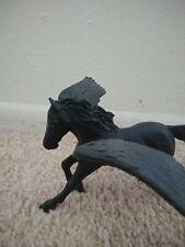 Pegasus figure horse black and white