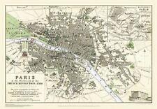 George Bradshaw'S CONTINENTAL Città Piano di Parigi 1896 - 1000 Pezzo Puzzle
