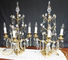 Paire de girandoles  à 3 bras de lumière,Hauteur=70 cm,style L.XV,XIXème