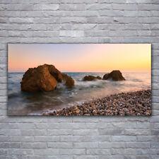 Acrylglasbilder Wandbilder Druck 120x60 Felsen Steine Meer Landschaft