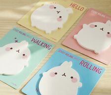 Molang Post-it 4 Color Sticky Note Ver.1 Memo Pad Cute Bookmark Bookmarker Index