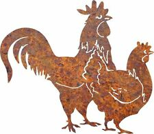 DXF CNC dxf for Plasma Router Clip Art Rooster and Hen Man Cave Wall Art Garage